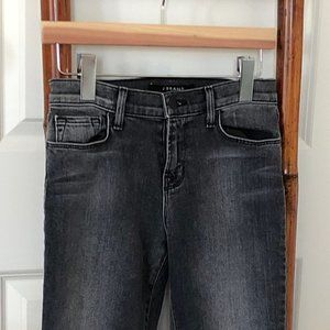 J BRAND Skinny Crop Faithful Mid Rise Blk/Gray 26